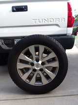 "Genuine OEM Toyota Tundra 20"" 4 Center Cap, Wheel, Tires and Spare in Cary, North Carolina"