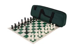 Premier Tournament Combo - Green Bag/Board with Black & Ivory Pieces in Wright-Patterson AFB, Ohio