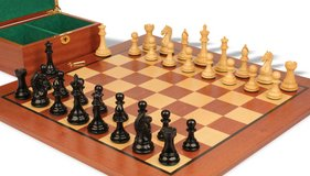 The Contemporary Staunton Series Chess Pieces & Board Combo in Sheesham & Box Wood in Wright-Patterson AFB, Ohio