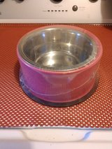 Dog Bowl pink stainless steel in Sandwich, Illinois