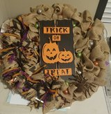 Burlap Halloween Wreath in DeRidder, Louisiana