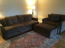 PRICE REDUCED!!! Crate & Barrel Lounge Couch and Chair with Ottoman in Westmont, Illinois