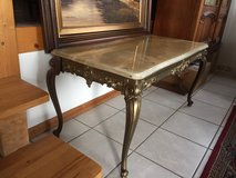 French Chippendale Coffee Table with Polished Marble Top in Ramstein, Germany