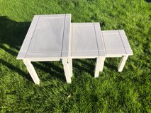 pine bookcase coffee table nest of tables in Lakenheath, UK