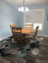 Round dining table with 4 chairs in Camp Lejeune, North Carolina