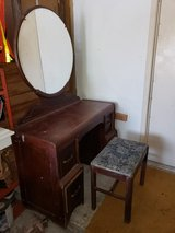 antique vintage waterfall vanity in Conroe, Texas
