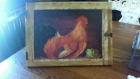 Canvas rooster wall decor in Fort Leonard Wood, Missouri