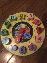 Melissa and Doug Wooden Clock in Glendale Heights, Illinois
