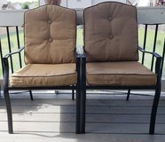 2 Outdoors Chairs with Cushions in Clarksville, Tennessee