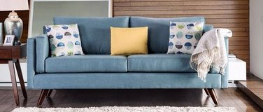 mid-century modern fabric sofa in San Clemente, California