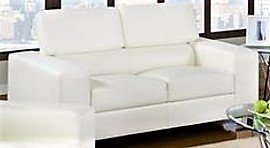 Contemporary White Eco-Leather Loveseat in San Clemente, California