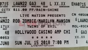 UPDATE -2 LEFT - 4 tickets to Marilyn Manson & Rob Zombie 7/15 @ Hollywood Casino Amphitheater in Bolingbrook, Illinois