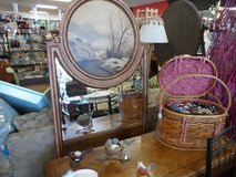 Tall wall beveled mirror with scene in Cherry Point, North Carolina