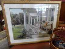 Large Framed porch scene picture in Cherry Point, North Carolina