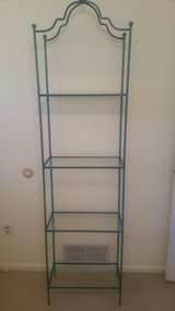 Iron + glass shelving unit in St. Charles, Illinois