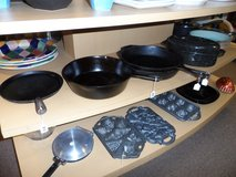 Skillet Cast iron Most are USA made $28-38 in Cherry Point, North Carolina