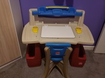 Step 2 Toddler desk with/ chair in Clarksville, Tennessee
