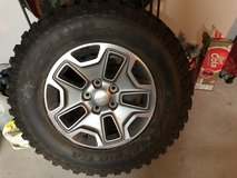 BF Goodrich LT 255R 17 Stock tire and rim for JK Wrangler in Pearland, Texas