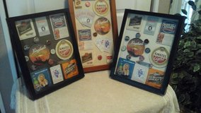 Beer Bar Framed Pictures /Shadow Boxes-Assembled By Crafter in St. Charles, Illinois
