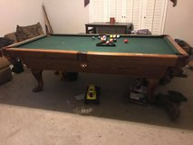 Oak Pool Table in Pasadena, Texas