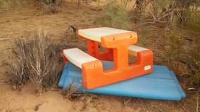 Bench etc in Yucca Valley, California