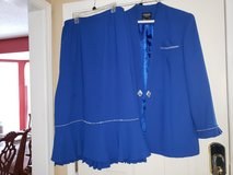 Royal Blue Rhinestone suit w/ pleats in Fort Campbell, Kentucky