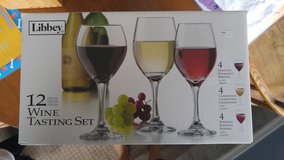 Wine glass set in San Antonio, Texas