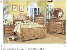 8 piece King bedroom set Tommy Bahama style Key West set from Cindy Crawford in Joliet, Illinois