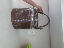 Copper pail in Bellaire, Texas