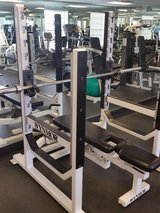 Competition weights gym bench in Lake Elsinore, California