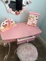 girls room decor 7 pieces. the vanity is 2 feet 2 inches in length width is 1 foot 2 inches. the... in Perry, Georgia