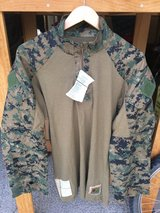 USMC WOODLAND MARPAT Combat Shirt Size MR NEW with Tag FROG in Temecula, California
