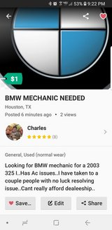 BMW MECHANIC NEEDED in The Woodlands, Texas