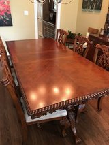 dining room table, 8 chairs, extras in Kingwood, Texas