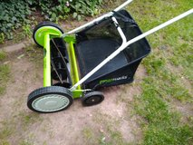 Manual mower with bag in Ramstein, Germany