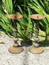 Cast Iron Candle Holder Matching Set Patio Deck Garden in Westmont, Illinois