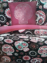 Sugar Skulls bedding in Houston, Texas