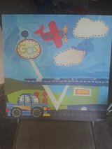 Cute Kids Gas Station/Airplane Canvas Picture in Kingwood, Texas
