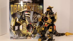 Power rangers limited edition black and gold dragonzord in Macon, Georgia
