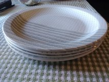 4 Large GRAY/WHITE Dinner Plates in Travis AFB, California