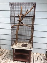 TALL LARGE ANIMAL CAGE WITH STAND GREAT CONDITION! in Fort Leonard Wood, Missouri