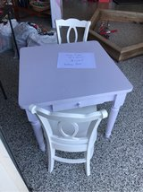 pottery barn table and 2 chairs in Naperville, Illinois