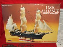 USS Alliance Apprentice Training Ship 1875 1/200 Scale Model Lindberg in Westmont, Illinois