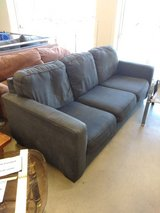 gray couch fits 3 people comfortably 100 obo in Westmont, Illinois