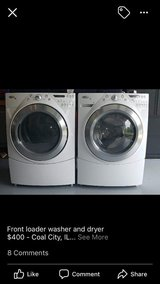 Whirlpool front loader washer and dryer in Chicago, Illinois