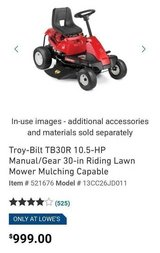 Almost new lawnmower in Fort Rucker, Alabama
