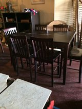 Pub Table W/ Built In Leaf and 6 Chairs in DeRidder, Louisiana