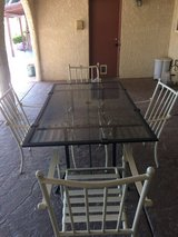 Patio table in Nellis AFB, Nevada