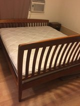Beautiful Wood Bedframe with Serta Pillowtop Mattress - Cal. King in Honolulu, Hawaii