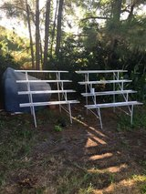 Two aluminum  shelves in Beaufort, South Carolina